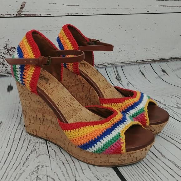 Mia Hannah Rainbow Crochet Wedges